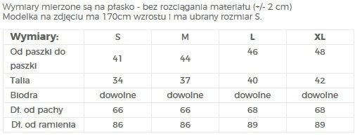 TABELA ROZMIARÓW / SUKIENKA ROZKLOSZOWANA - NUMOCO / POLSKA