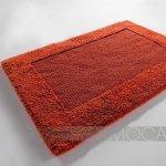 Dywanik łazienkowy Moca Design - Frame - pomarańczowy