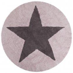 Dywan do prania w pralce - Lorena Canals REVERSIBLE STAR - brązowo-różowy