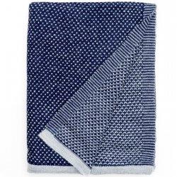 Pled wełniany Elvang - RAINDROPS - niebieski