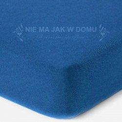 Prześcieradło jersey z gumką - niebieskie ciemne