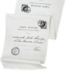 Bieżnik French Home - Carte Postale L - biały
