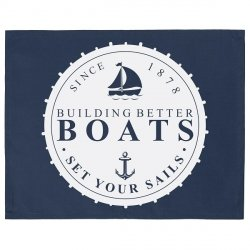 Serweta / podkładka French Home - Marynarska Boats - granatowa