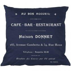 Poduszka French Home - Cafe Bar - granatowa