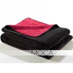 Koc Moca Design Doubleface - czerwony + czarny