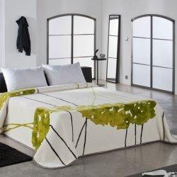 Narzuta Koc Duo by Piel - Minimalist - zielona niebieska fioletowa