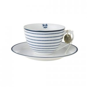 Laura Ashley BLUEPRINT - filiżanka do cappuccino 250 ml - CANDY STRIPE