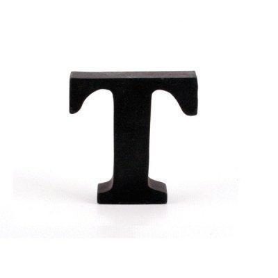 Litera ozdobna mała - T - czarna