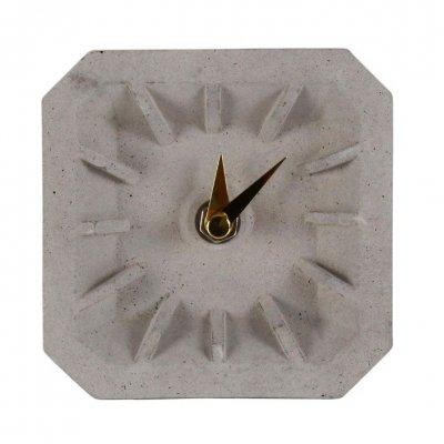 Zegar betonowy stojący KONKRET - mosiądz 10 cm