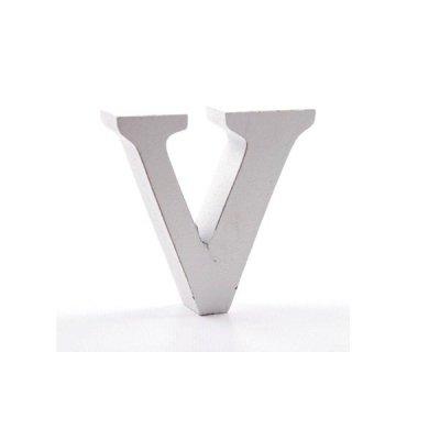 Litera dekoracyjna mała - V - biała