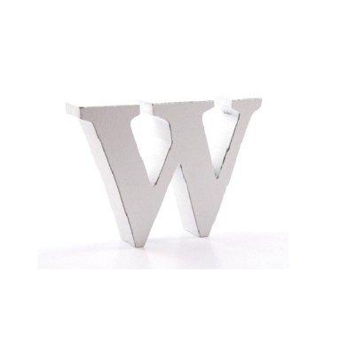 Litera dekoracyjna mała - W - biała