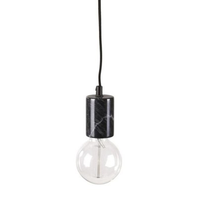 Lampa marmur z wtyczką - KOLV - czarna
