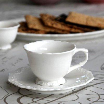 PROVENCE CHIC - filiżanka z podstawką do kawy 200 ml