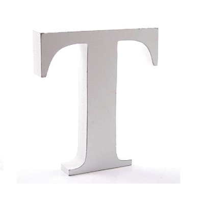 Litera dekoracyjna duża - T - biała