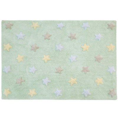 Dywan do prania w pralce - Lorena Canals TRICOLOR STARS - Mint