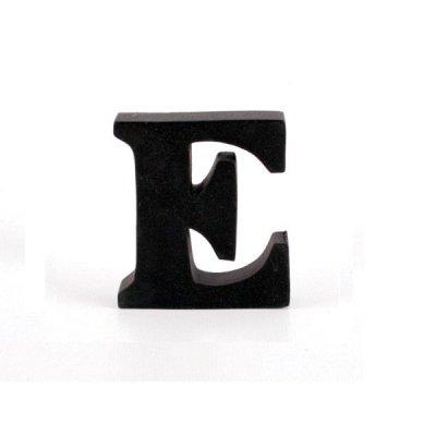 Litera ozdobna mała - E - czarna