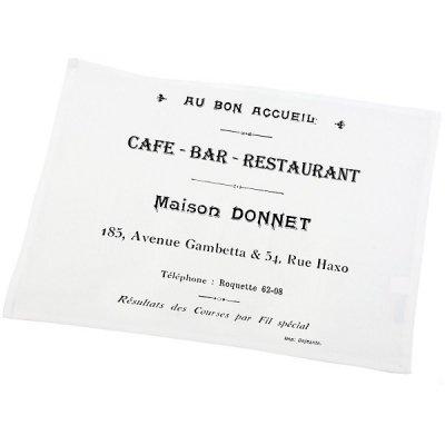 Serweta / podkładka French Home - Cafe Bar - biała