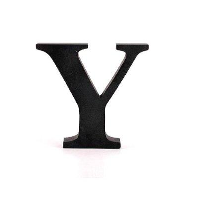 Litera ozdobna duża - Y - czarna