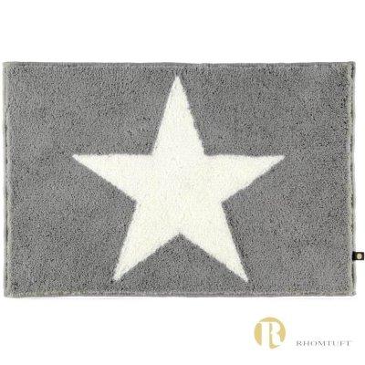 Dywanik łazienkowy Rhomtuft - STAR - biało-szary