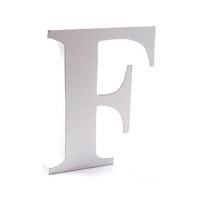 Litera dekoracyjna duża - F - biała