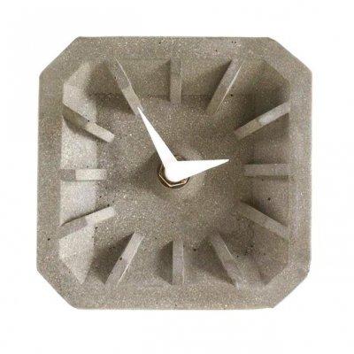 Zegar betonowy stojący KONKRET - biały 10 cm