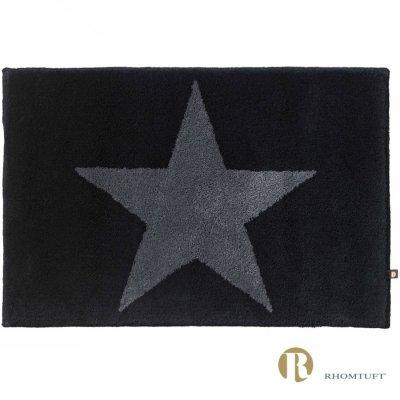 Dywanik łazienkowy Rhomtuft - STAR - szaro-czarny