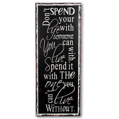 Obrazek typograficzny - SPEND YOUR LIFE