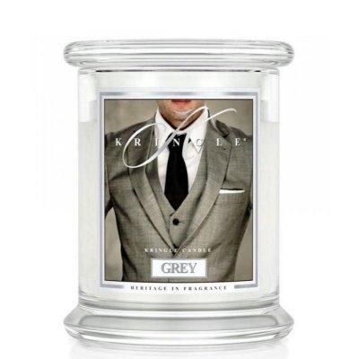 GREY - świeca zapachowa KRINGLE CANDLE - 75 godzin