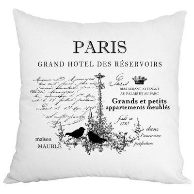 Poduszka French Home - Paris - biała