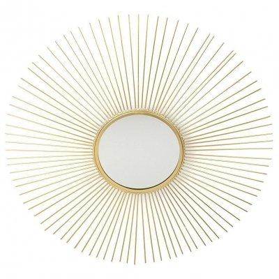 Lustro słońce - złote - 61,5 cm