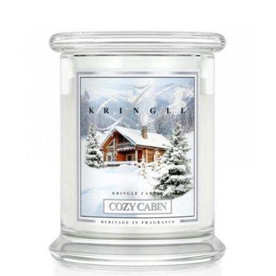 COZY CABIN - świeca zapachowa KRINGLE CANDLE - 75 godzin