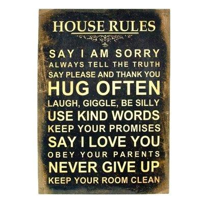 Obraz typograficzny - HOUSE RULES II