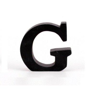 Litera ozdobna mała - G - czarna
