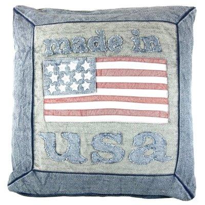 Poduszka dekoracyjna - made in USA - niebieska