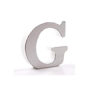 Litera dekoracyjna mała - G - biała
