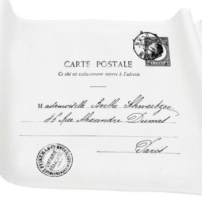 Bieżnik French Home - Carte Postale M - biały
