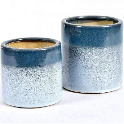 Doniczka Belldeco Włoskie Niebo - błękitno-niebieska - 16 cm