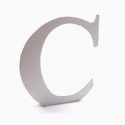 Litera dekoracyjna duża - C - biała