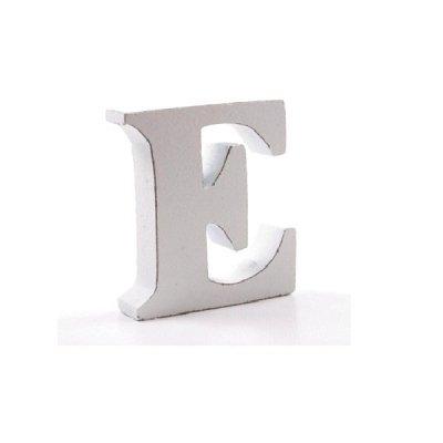 Litera dekoracyjna mała - E - biała