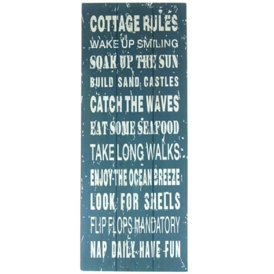 Obraz / tablica - COTTAGE RULES