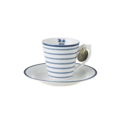 Laura Ashley BLUEPRINT - filiżanka do espresso 80 ml - CANDY STRIPE