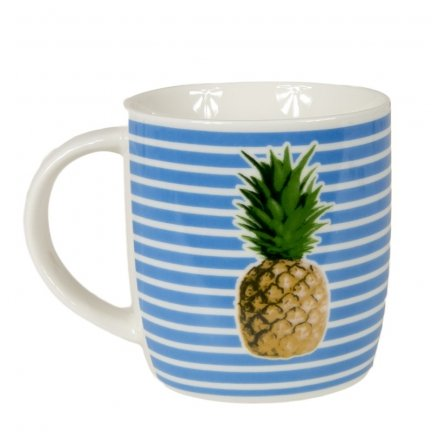 Kubek Tropical Fruits -  Ananas - paski