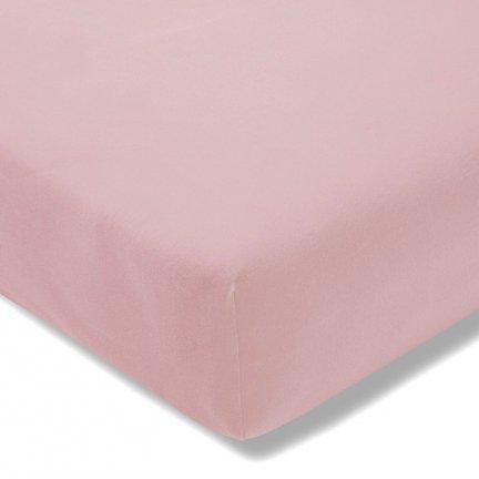 Prześcieradło ESTELLA Feinjersey z gumką - różowe pudrowe