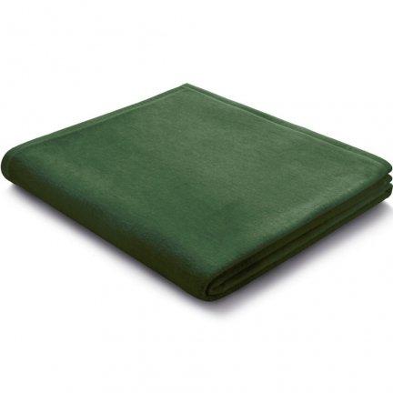 Koc Biederlack 100% bawełna - Pure Cotton - zielony