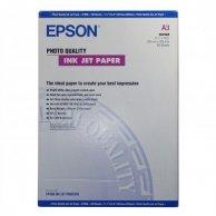 Epson Photo Quality InkJet Pa, foto papier, matowy, biały, A3, 105 g/m2, 720dpi, 100 szt., C13S041068, atrament