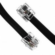 Kabel telefoniczny 4-żyłowy, RJ11 M-RJ11 M, 3m