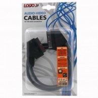 Audio/video kabel Scart-Scart, M/M1m, Logo, blistr
