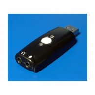 Redukcja Audio, USB(A)-Jack(3,5mm) 2x, M/F, C-Media Chipset, No Name