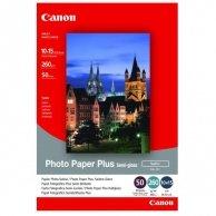 Canon Photo Paper Plus Semi-G, foto papier, półpołysk, satynowy, biały, 10x15cm, 4x6, 260 g/m2, 50 szt., SG-201S, atrament