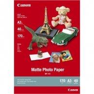 Canon Matte Photo Paper, foto papier, matowy, biały, A3, 170 g/m2, 40 szt., MP-101 A3, atrament
